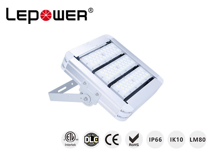 White Color Outdoor LED Flood Lights Fixture 120W Waterproof Excellent Heat Sink Design